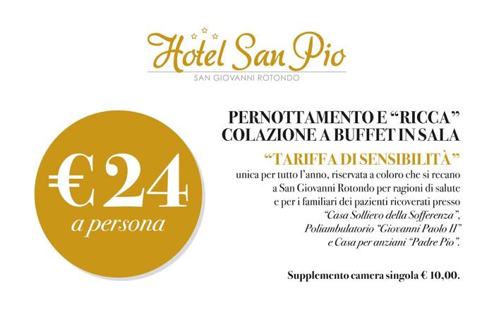 Offerta 2019 - Tariffa Sensibilità Hotel San Pio - San Giovanni Rotondo
